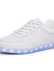 Unisex Sneaker Walking Leuchtende LED-Schuhe Komfort PU Frühling Sommer Herbst Winter Sportlich Normal LED Schnürsenkel Flacher Absatz