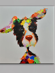 cheap -Single Modern Abstract Pure Hand Draw Frameless Decorative Painting Dog
