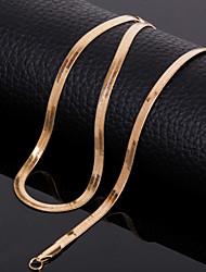 Недорогие -Ожерелья-цепочки - Титановая сталь Дамы Золотой Ожерелье Бижутерия Назначение Свадьба, Для вечеринок, Повседневные