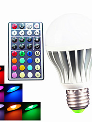 abordables -550 lm E26/E27 B22 Bombillas LED de Globo A60(A19) 3 leds LED de Alta Potencia Regulable Decorativa Control Remoto RGB AC 100-240V