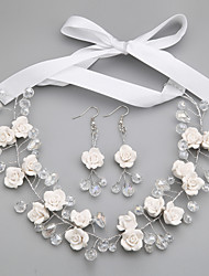 cheap -Women's Crystal Jewelry Set - Others White