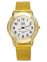 cheap -Women's Quartz Wrist Watch Imitation Diamond Alloy Band Charm Simulated Diamond Watch Fashion Silver Gold