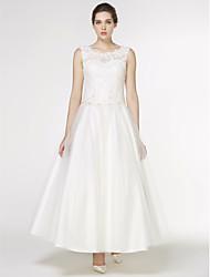 Linea-A Alla caviglia Di pizzo Tulle Vestito da sposa con Con applique Di pizzo di LAN TING BRIDE®