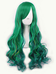 cheap -Europe and The United States the New Gradient Cosplay Anime Wig COS The Original Green Color Female Long Hair Wig