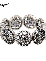 cheap -D Exceed Women Bracelets Silver Fashion Elasticity Design Wide Bracelet Free Shipping