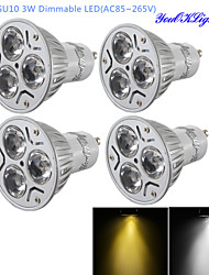 cheap -GU10 LED Spotlight R63 3 High Power LED 280 lm Warm White Cold White 3000/6000 K Dimmable Decorative AC 220-240 AC 110-130 V