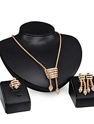 cheap -Pearl Jewelry Set - 18K Gold Plated, Crystal Fashion, Statement Include For Wedding / Party / Daily / Rings / Earrings / Necklace / Rhinestone