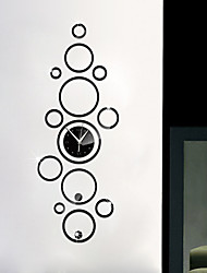 Creative Circle Clock Sticker DIY Mirror Acrylic Wall Stickers Wall Decals