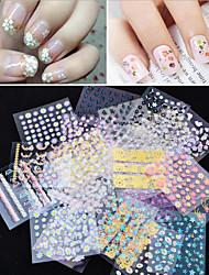 Adesivi 3D unghie - Adorabile / Punk / Matrimonio - per Dito - di Acrilico - 50 - 10*7.7*1
