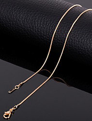 cheap -Men's Women's Chain Necklace Titanium Steel Chain Necklace , Wedding Party Daily Casual