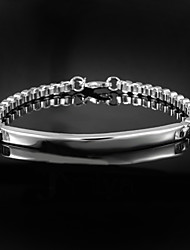 cheap -Hot Noble Exaggeration 925 Silver sterling Chain & Link Bracelets For Men