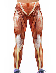 Women's Stretch Muscle 3D Print Yoga Leggings