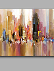 Hand-Painted Abstract Horizontal,European Style One Panel Canvas Oil Painting For Home Decoration