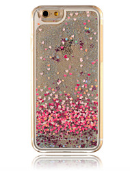 For iPhone 6 Case / iPhone 6 Plus Case Flowing Liquid Case Back Cover Case Glitter Shine Hard PC iPhone 6s Plus/6 Plus / iPhone 6s/6