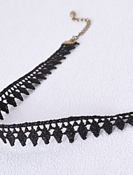 cheap -Women's Choker Necklace / Torque / Gothic Jewelry - Lace Tattoo Style, Fashion Black Necklace For Wedding, Party, Daily / Tattoo Choker