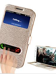 economico -Per Samsung Galaxy Custodia Con supporto / Con sportello visore / Con chiusura magnetica Custodia Integrale Custodia Tinta unita