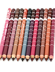 Matite labbra Secco Matita Gloss colorati / Effetto prolungato / Naturale / Asciugatura rapida / Traspirante Nero / Marrone / Rosso