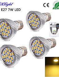 E26/E27 Faretti LED A50 15 SMD 5630 600 lm Bianco caldo 3000 K Decorativo AC 220-240 AC 110-130 V