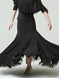 Ballroom Dance Tutus & Skirts Women's Performance Tulle Ice Silk Natural Skirts