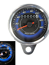 cheap -Motorcycle LED Odometer & Tachometer Meter Gauge 0-140Km/h