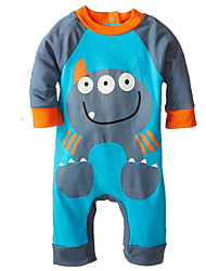 cheap -1-24M Spring Autumn Cotton Fabric Infant Baby Boy Girl Rompers Jumpsuit Toddler Newborn Clothing