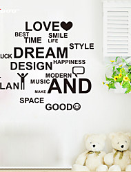 cheap -AWOO® New Wall Sticker Love And Dream Pattern Group On Behalf Of English customization