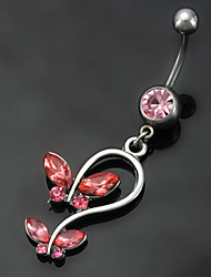 Dame Navel Ring / Belly Piercing Rustfrit Stål Mode Kropssmykker Til Daglig Afslappet Kostume smykker