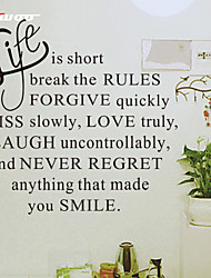 cheap -AWOO® New Life Is Short Hot Wall Sticker Group On Behalf Of English customization