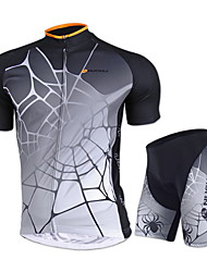 Nuckily Cycling Jersey with Shorts Unisex Short Sleeves Bike Jersey Shorts Padded Shorts/Chamois Clothing Suits Tops Waterproof