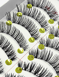 cheap -False Eyelashes Makeup 10 pcs Eyelash Daily Makeup / Party Makeup Extended Lifted lashes Volumized Cosmetic Grooming Supplies