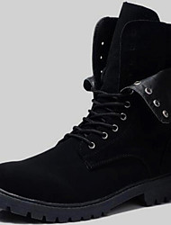 cheap -Men's Shoes Synthetic Fall / Winter Comfort / Cowboy / Western Boots / Fashion Boots Boots Black / Party & Evening / Motorcycle Boots