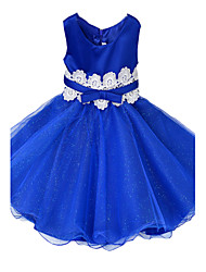 cheap -Girl's Blue / Green / Pink / Red / White Dress , Floral / Dresswear Cotton / Polyester All Seasons