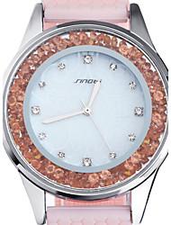 baratos -SINOBI Mulheres Relógio Casual / Relógio de Moda / Relógios Femininos com Cristais Impermeável Silicone Banda Rosa
