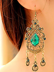 Women's Drop Earrings Vintage Victorian Fashion European Synthetic Gemstones Alloy Drop Jewelry For