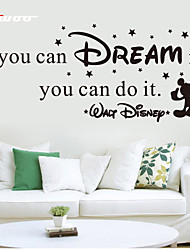 cheap -AWOO® New Wall Sticker If You Can Dream It Pattern Group On Behalf Of English customization