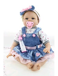 "cheap -NPK DOLL Reborn Doll Baby 22"" Silicone Vinyl Newborn lifelike Cute Handmade Child Safe Lovely Non Toxic Gift"