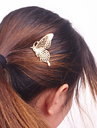 Women Fashion Metal Butterfly Pattern Comb Hairpin Hair Accessories Jewelry 1pc