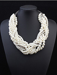 cheap -Women's Fashion Statement Jewelry Multi Layer European Statement Necklace Layered Necklace Pearl Necklace Pearl Pearl Alloy Statement