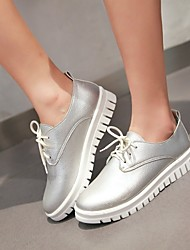 cheap -Women's Shoes Leatherette Spring / Fall Platform Lace-up White / Black / Silver