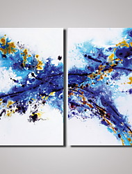 cheap -2 Panels Blue Abstract Painting Picture Print on Canvas Modern Wall Art Unframed