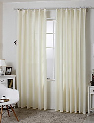 cheap -Rod Pocket Grommet Top Double Pleat Two Panels Curtain Country Modern Mediterranean , Jacquard Stripe Bedroom Linen/Polyester Blend