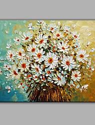 Недорогие -ручная роспись белая ромашка цветок масляной живописи домашнее украшение