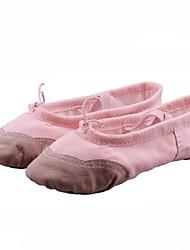Børne Ballet Kanvas Flade Ydeevne Begynder Træning Flade hæle Sort Hvid Rød Lyserød Beige Kan ikke tilpasses