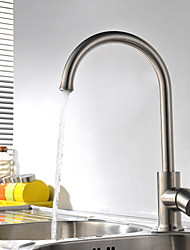 cheap -High Quality Fashion Brushed Finish Stainless Steel 360° Rotatable Kitchen Sink Faucet