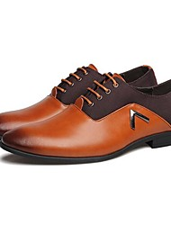 cheap -Men's Shoes Amir New Style Hot Sales Wedding / Office & Career / Party & Evening  Leather Oxfords Black/Brown/Orange