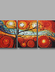 """cheap -Ready to Hang Stretched Hand-Painted Large Oil Painting 60""""x28"""" Canvas Wall Art Modern Abstract Life Trees Art"""