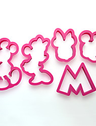 5 pcs Mickey and Minnie Mouse Cookie Cutter Mold Cupcake Birthday Party Favor Set