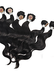 "Brazilian Virgin Sweet Body Wave Hair Extensions 2x12"" 2x14"" 2x16"" 6Pcs 1B Color Body Wave Human Hair Weaves 200g/Set"