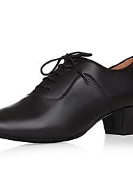Недорогие -Для мужчин Современный Кожа На каблуках Для начинающих Концертная обувь На толстом каблуке Черный 4,5 см Не персонализируемая