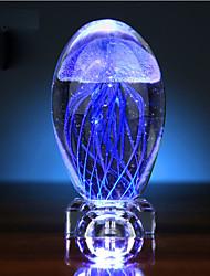 dia medusa brilho cristal bola pequena luz noturna caixa de música presente criativo dos namorados LED a lâmpada de luz